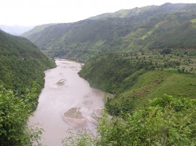 Fluss bei Kathmandu