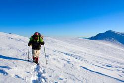 Für Treks in kalte Regionen ist solch ein Schlafsack nicht geeignet