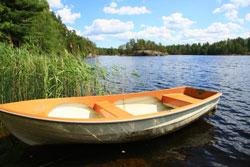 Der Koitajoki ist wie geschaffen für Bootstouren