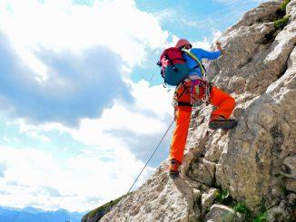 Klettern mit Rucksack