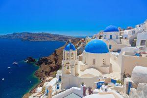 Trekking auf Santorin in Griechenland