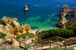 Genießen Sie die Landschaft der Algarve