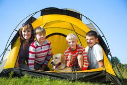 Die Nähte beim Zelt sind entscheidend für die Qualität