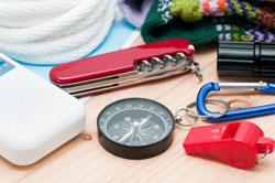 Taschenmesser und Kompass dürfen nicht fehlen